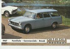Peugeot 404 Estate (Familiale, Commerciale, Break) Brochure - 1967 - German Text