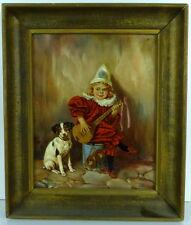 Edmond Louyot, Ölgemälde, Clown mit Hund, Kopie von HR