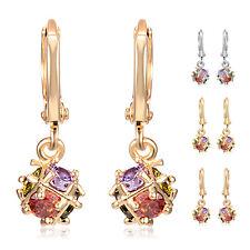 Fashion Womens Crystal Gold Filled Drop Earrings Magic Ball,Dangle Hoop lot 1