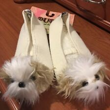 Mi-Ki Puppy At Heart Dog Bedroom House Slippers Women's Large