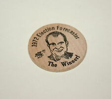 Vintage 1972 Richard Nixon & Agnew Presidential Election Winners Wooden Nickel