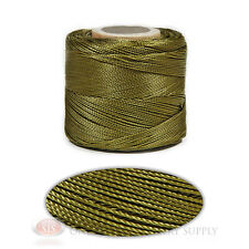 Beaver Green 251 Yds. Conso Nylon Cord Lace Craft and Jewelry Beading Stringing