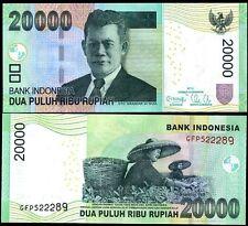 INDONESIA 20000 20,000 RUPIAH 2012/2004 OMRON CIRCLES P 151 UNC