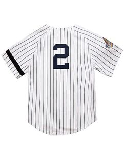 Mitchell & Ness NY Yankees 1996 Derek Jeter World Series PATCH Authentic JERSEY