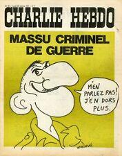 """""""CHARLIE HEBDO N°49 du 25/10/1971"""" WOLINSKI : MASSU CRIMINEL DE GUERRE"""
