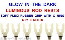 NGT Carp Fishing Tackle Glow in The Dark Luminous Rod Butt Grip Rests 1 2 3 or 4 1 Rest