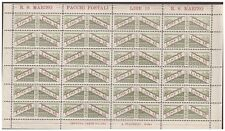 San Marino 1928 - Packs post Lire 15 Sheet of Stamps New