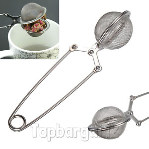 Tea Mesh Ball Infuser Stainless Leaf Herbs Loose Strainer Reusable Spice Filter