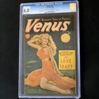 Venus #8 (Atlas Comics 1950) 💥 CGC 6.0 💥 Painted Cover! Rare Golden Age Comic