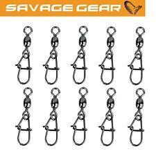 Savage Gear Eggsnap Swivel - 10 Wirbel, Einhängeclip, Karabiner für Vorfächer