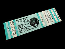 Grateful Dead Ticket Berkeley Community Theatre BCT 10/28/1984 Steal Your Face