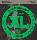 D'Addario ENR70 Half Round Bass Guitar Strings, Super Light,  40-95, Long Scale for sale