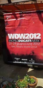 World Ducati Week 2012 street/ lampost  banner