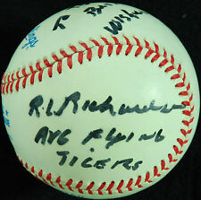 "Roland Richardson Single-Signed OAL Baseball ""Flying Tigers"" (PSA/DNA)"