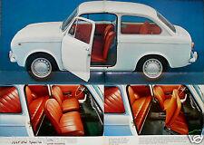 Fiat 850 Special 1968 Brochure Prospekt Swedish Language Excellent Condition