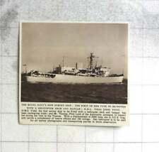 1954 Hms Vidal Royal Navy Survey Ship