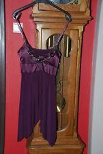 Tunique ou mini-robe asymétrique bordeaux Taille unique 36/38/40 comme NEUVE!