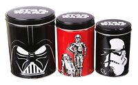 Star Wars Set of 3 Tin Canisters - Darth Vader, R2-D2 & C-3PO, Storm Trooper