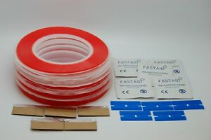 33 METERS DOUBLE SIDED EXTREMELY STRONG ACRYLIC TAPES SET PREP PADS&BLADES