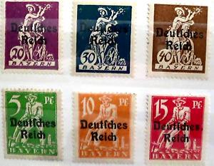 Briefmarken BAYERN - Deutsches Reich - Postfrische Marken -t.Satz - Sauber