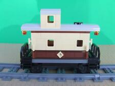 New Custom Built Train Caboose Built w/ New Lego Bricks / Emerald Night 10194