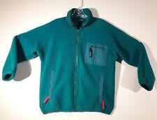 Vintage Patagonia Full Zip Fleece Jacket TEAL Green with Pink trim Woman's Large