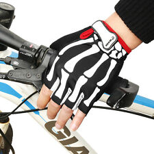 Cool Unisex Cycling Bicycle Half Finger Gloves Adjustable Wrist Breathable New