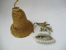 Vintage Koestel Angel  Christmas Ornament set of 2 Bells