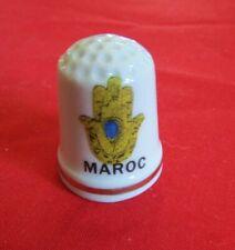 Dé a coudre de collection en porcelaine MAROC