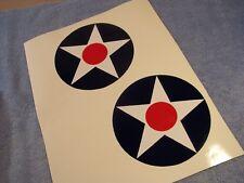 "WW2 Army Air Force AAF AIRCRAFT INSIGNIA  x2  6"" INCH DECAL Pre-Pearl Harbor"