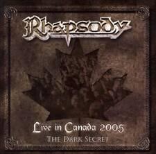 CD + DVD SET RHAPSODY OF FIRE LIVE IN CANADA 2005 THE DARK SECRET NEW SEALED