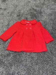 Baby Girl, Red, Coat, Jasper Conran, Collar, Age 9-12 Months, Fleece Lined