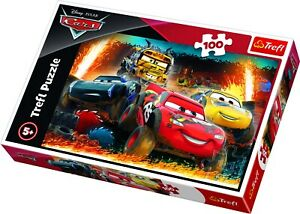Trefl 100 Piece Kids Large Boys Disney Pixar Cars 3 Extreme Race Jigsaw Puzzle
