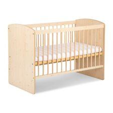 Babybett Karo Naturholz Farbe 120 X 60 mit Matratze Neu