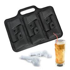 Gun Pistol Handgun DIY Silicone Soap mold Candy Chocolate Fondant Tray mould