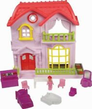 DAISIE MAY MINI DOLL HOUSE - 385-088 BRIGHT COLOURFUL MINATURE DOLLS ACCESORIES