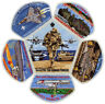 2018 Central Florida Council Military CSP Scout Patch Badge Set BSA Lot Jamboree