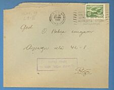"LATVIA COVER WITH SLOGAN "" SPODRA MAJA SETA LATVJU TIKUMS "" USED 1939s 864"