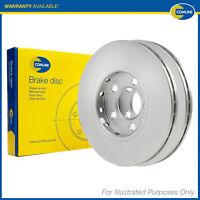 2x Genuine Comline Front Vented Coated Painted Brake Discs Set Pair