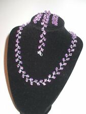 Ligth Purple Briolettes Necklace Set