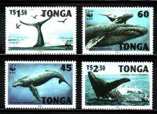 SELLOS TEMA WWF TONGA 1996 Nº 11040/3 ANIMALES MARINOS. BALLENAS 4v.