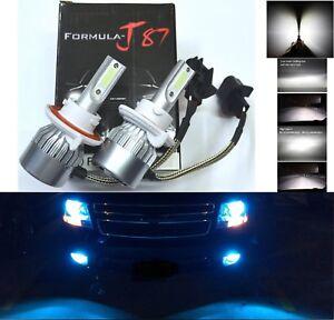 LED Kit C6 72W 9008 H13 10000K Blue Two Bulbs Head Light Plug Play Upgrade Lamp