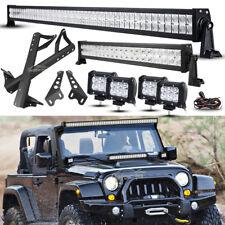"""52"""" +22"""" +4"""" 18W LED Light Bar +Mount Brackets Kit For Jeep Wrangler JK Rubicon"""