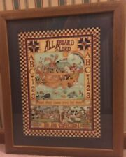 "Home Interiors The Noah'S Ark Picture All Aboard Said The Lord 22"" X18 1/2"""