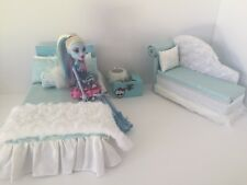Monster High furniture Bedroom set:Bed,sofa,lamp,wood Box:Abbey Bominable