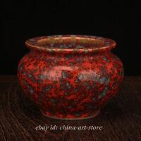 Chinese Longquan Kiln Porcelain Green Glaze Pot Jar Crock Writing-brush Washer