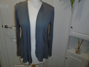 1 Grey long sleeve lightweight open cardigan with flared panels, GEORGE, size 12
