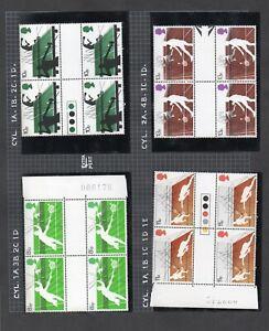 SG1022 - SG1025 1977 Racket Sports Traffic Light & Gutter Pairs MNH