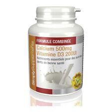 Calcium 500mg & Vitamine D3 200iu - Renforce les os & dents - 120 Comprimés