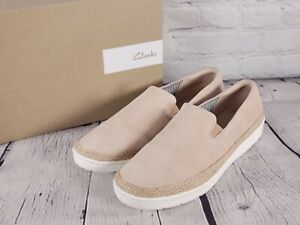 Clarks Collection - Leather Slip-On Shoes - Marie Pearl - Nude - Size 12 W